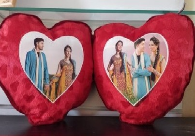 Customized Double Heart Cushion in Pune Designs, Images, Price