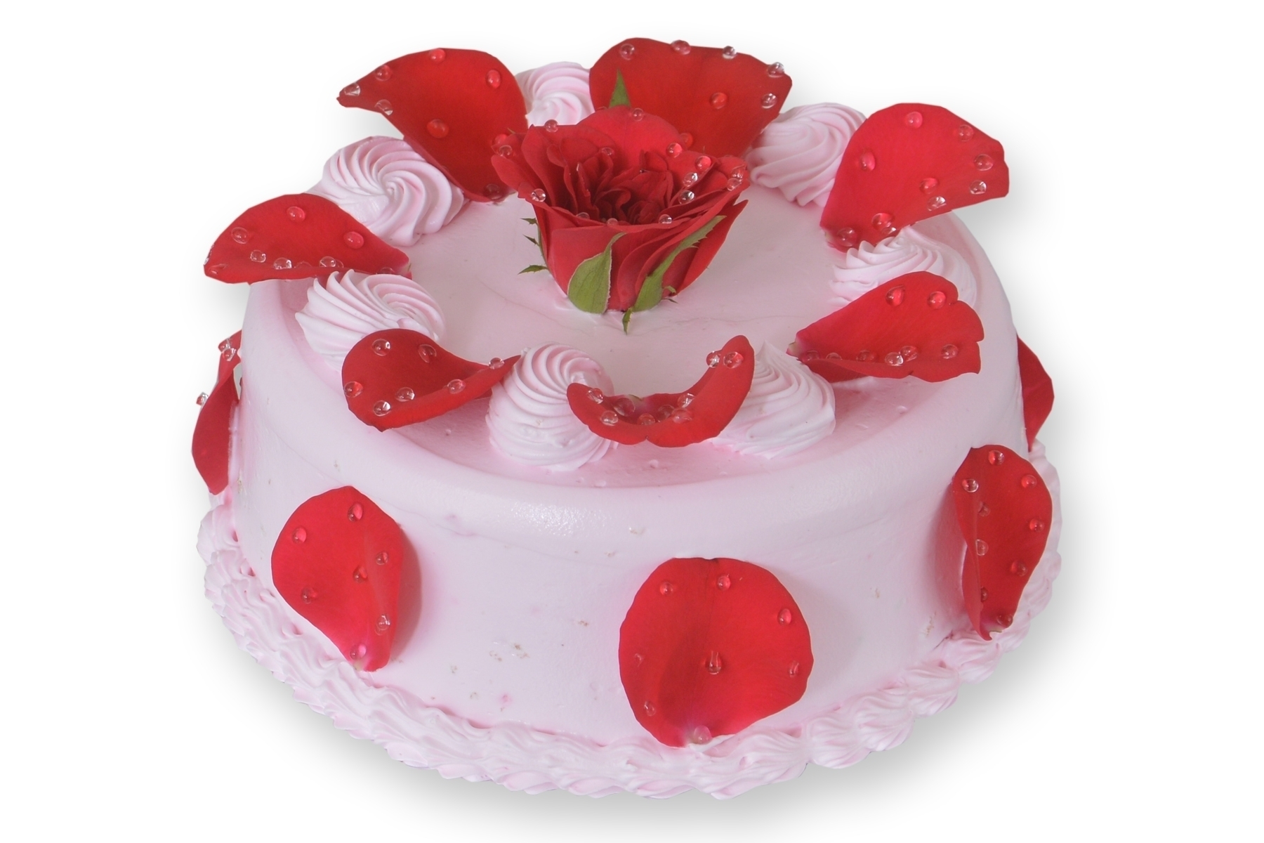 Gulkand Cake with Real Rose Petals in Pune Designs, Images, Price