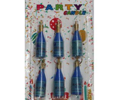 Champagne Shaped Candles Packet