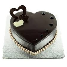 Chocolate Truffle Heart Shaped Cake in Pune Designs, Images, Price