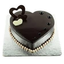 Chocolate Truffle Heart Shaped Cake