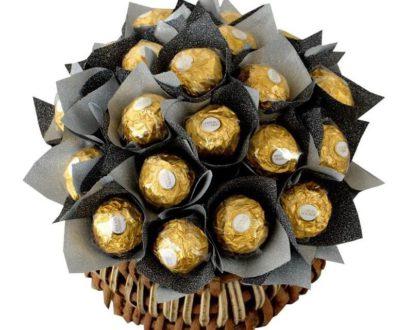 Delicacy of 20 Ferrero Rocher Basket