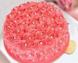 Designer Red Rose Cake (Fresh Cream)