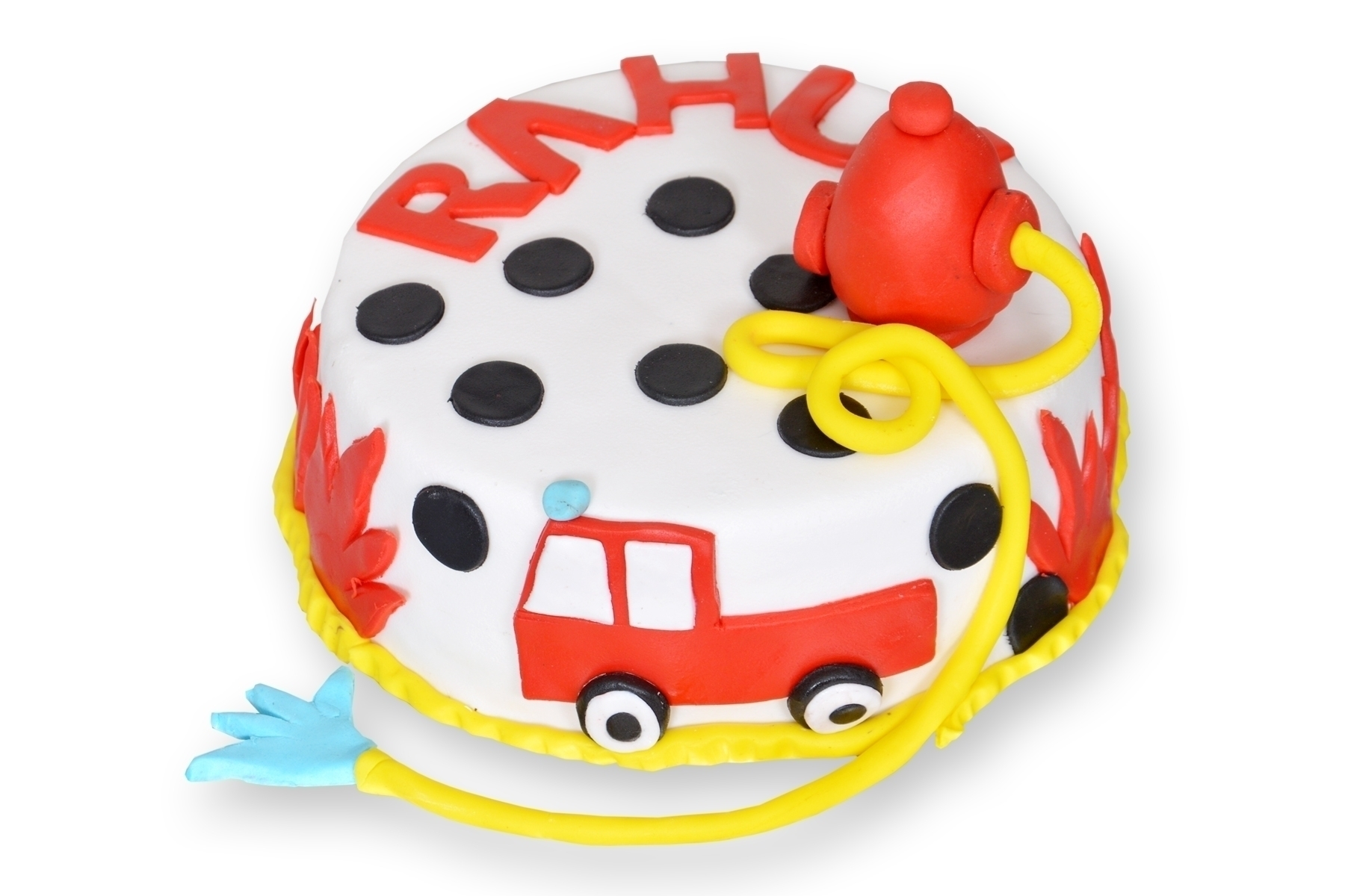Fire Brigade Cake (Semi Fondant) in Pune Designs, Images, Price