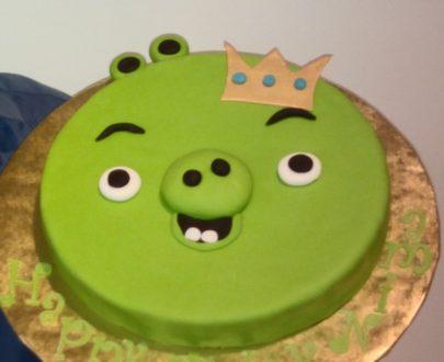 Green Pig Face Cake