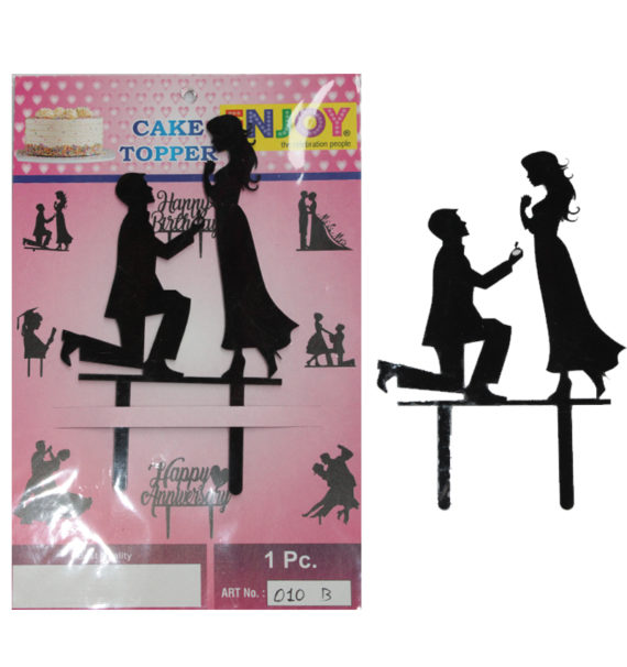 Happy Anniversary Cake Topper (Black) in Pune Designs, Images, Price