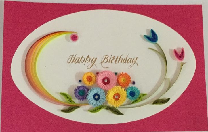 Happy Birthday Pink Greeting Card in Pune Designs, Images, Price