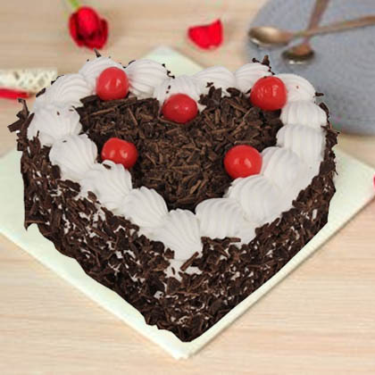 Heart Shaped Black Forest Cake in Pune Designs, Images, Price