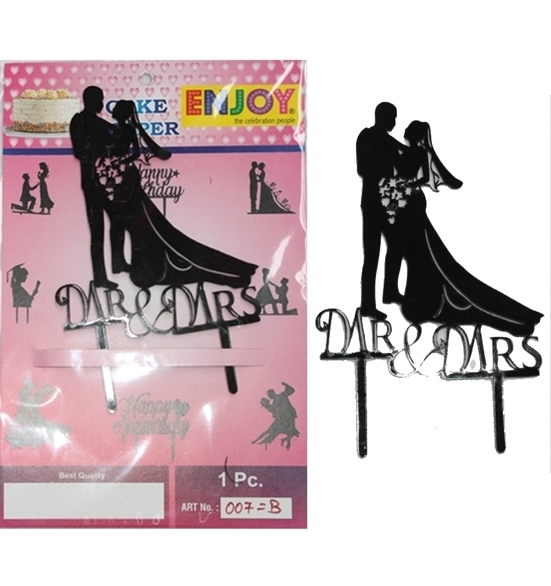 Mrs. & Mis. Cake Topper in Pune Designs, Images, Price