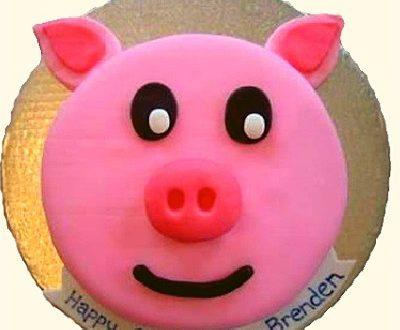 Piggy Face Cake