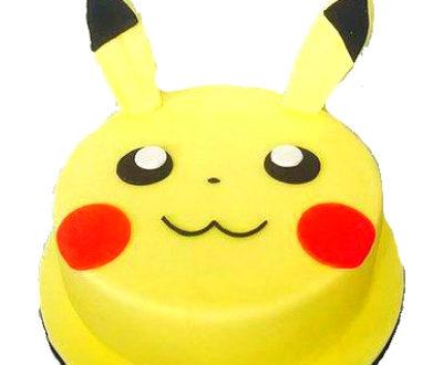Pikachu Shaped Cake