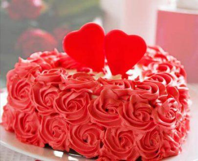Red Rose Cake (Fresh Cream)