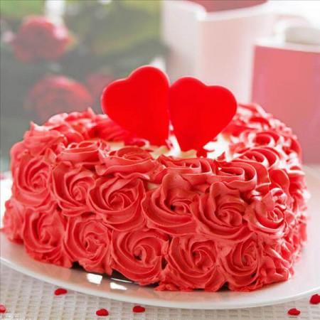 Red Rose Cake (Fresh Cream) in Pune Designs, Images, Price
