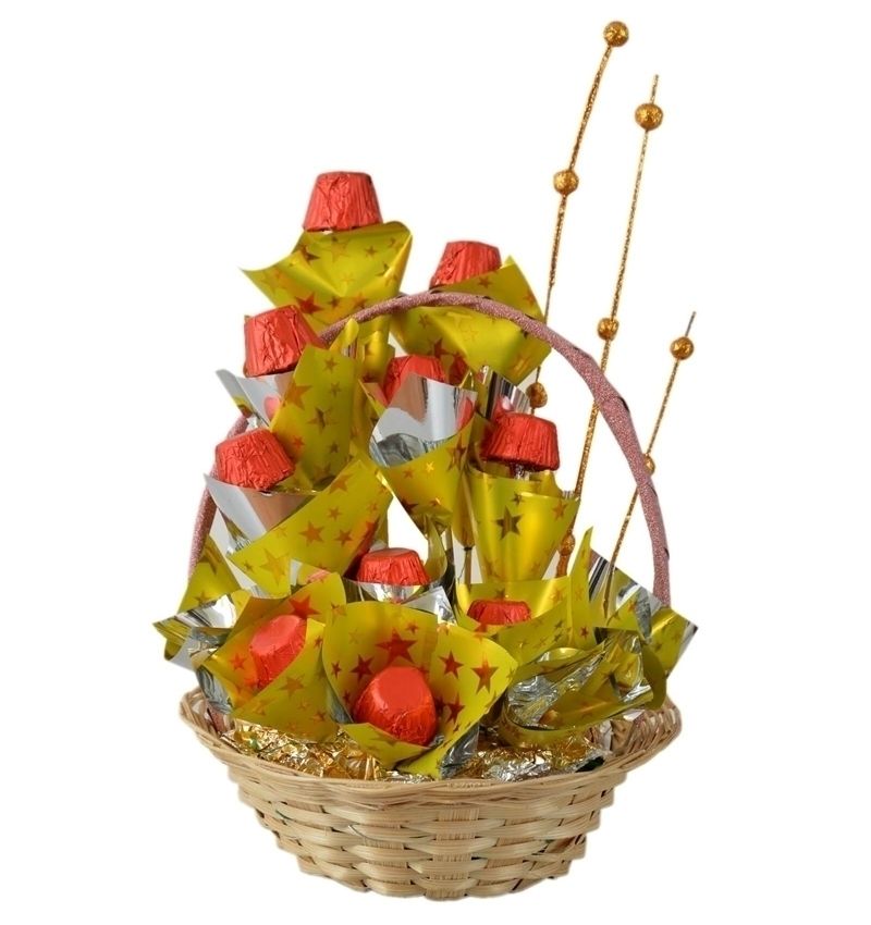 Small Chocolate Basket Bouquet in Pune Designs, Images, Price