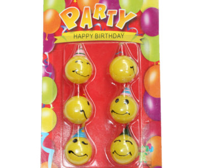 Smiley Face Candles Packet