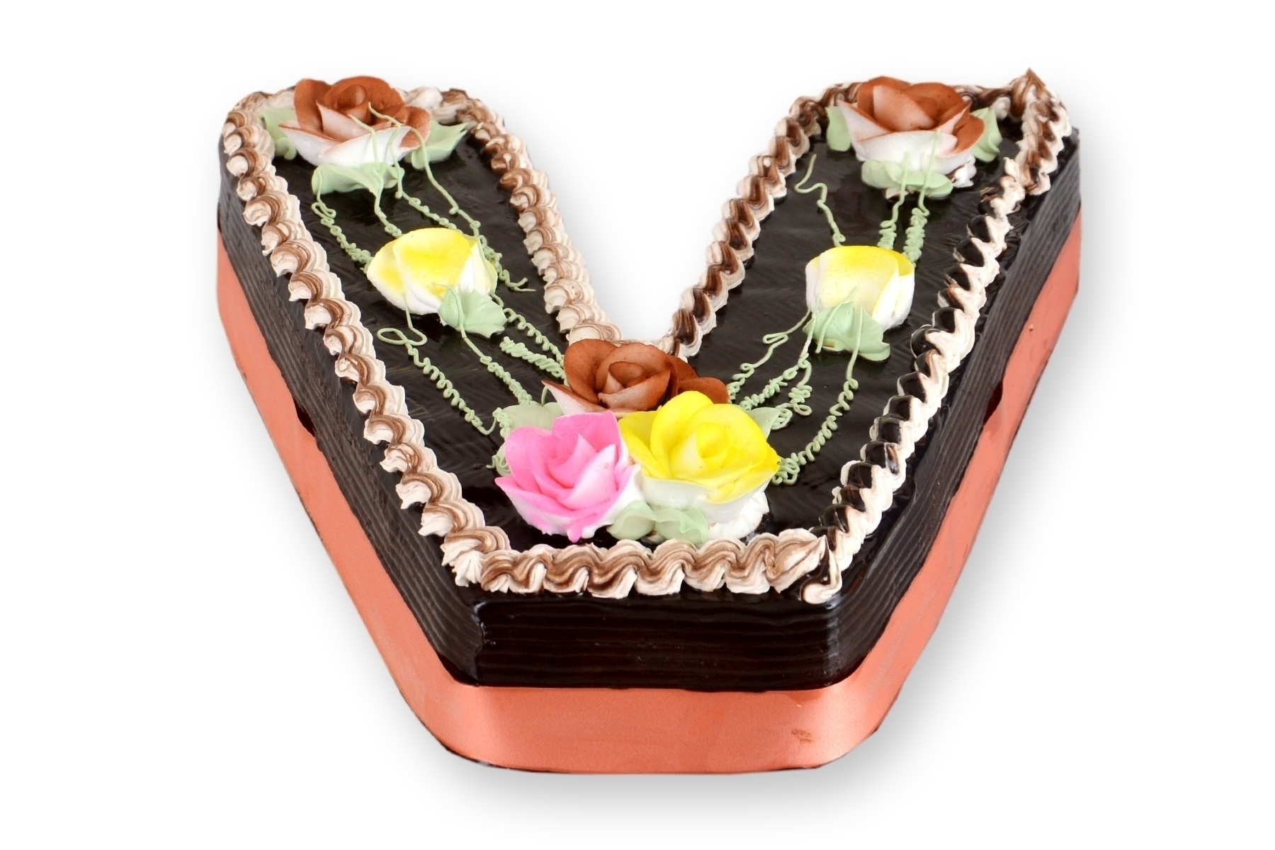 V Alphabet Shaped Cake (Any Flavour) in Pune Designs, Images, Price