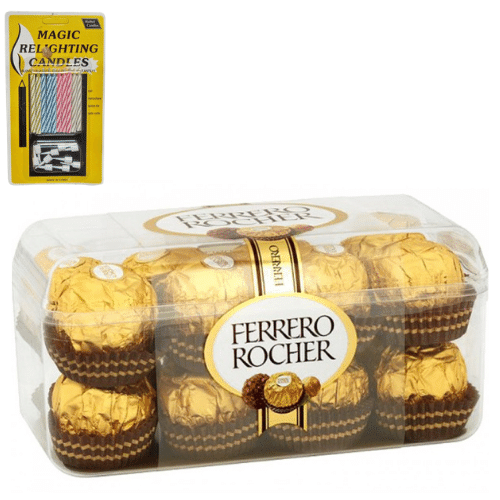 Ferrero Rocher 16 Pcs Chocolate with Magic Candle in Pune Designs, Images, Price