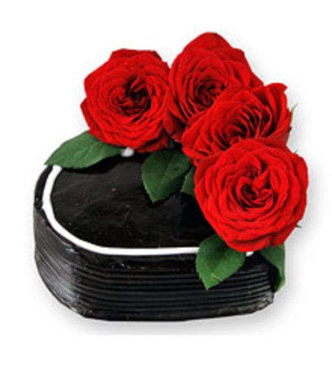 Chocolate Cake with Real Roses in Pune Designs, Images, Price