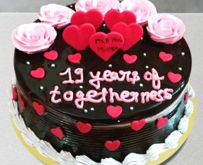 Chocolate Anniversary Cake (Fresh Cream)