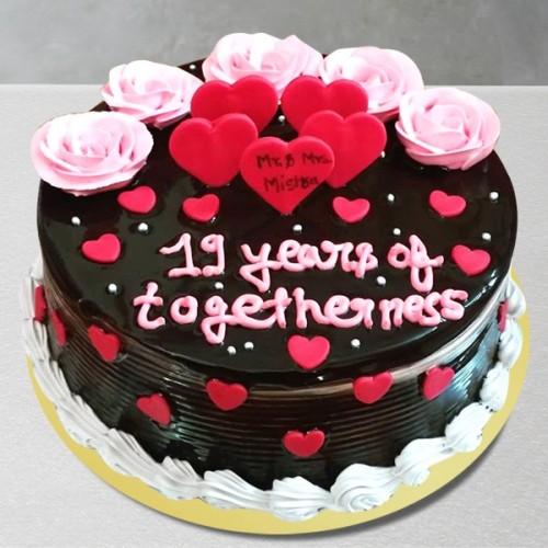 Chocolate Anniversary Cake (Fresh Cream) in Pune Designs, Images, Price
