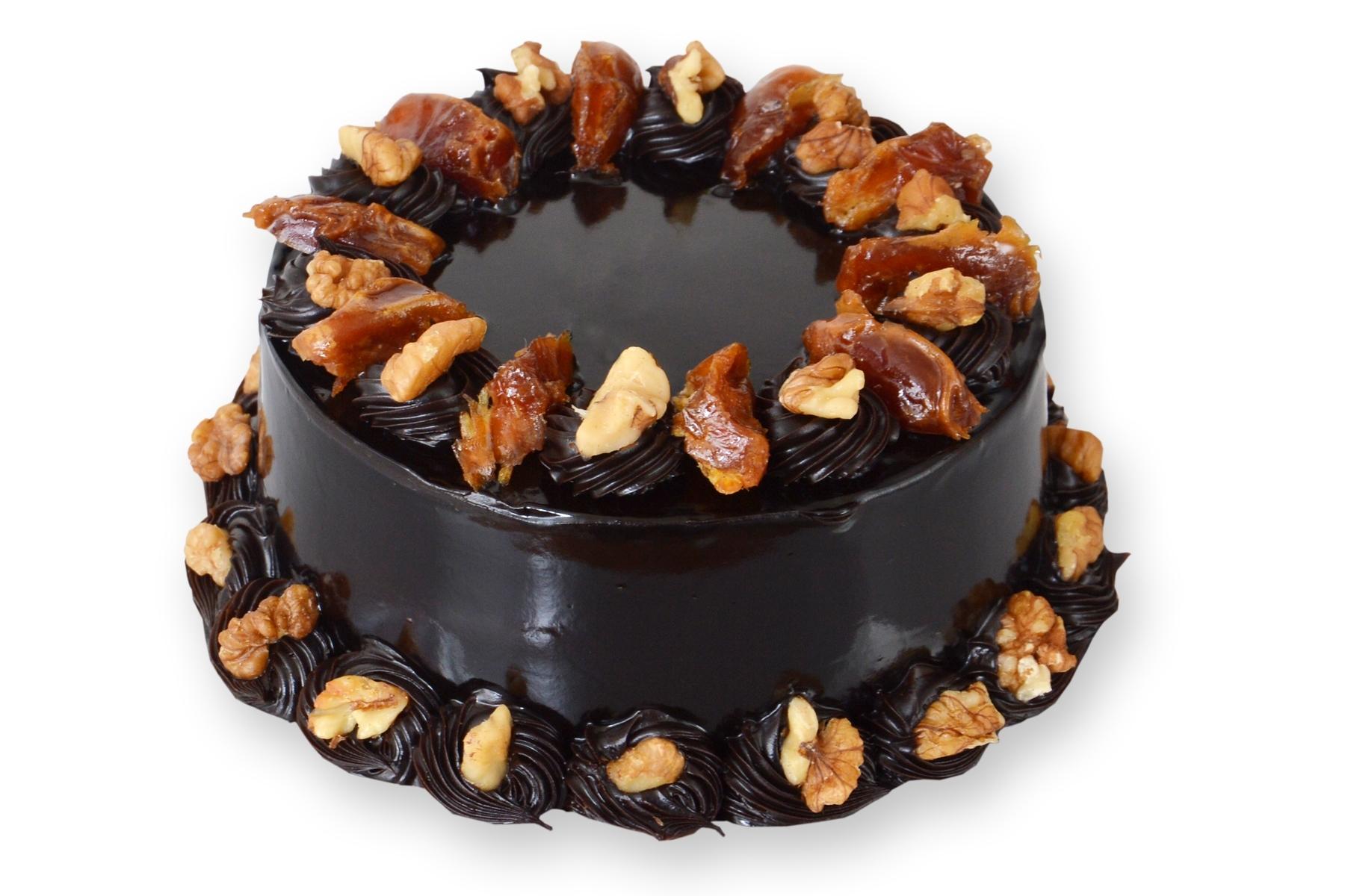 Dates & Walnut Chocolate Cake in Pune Designs, Images, Price