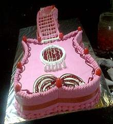 Guitar Shaped Cake