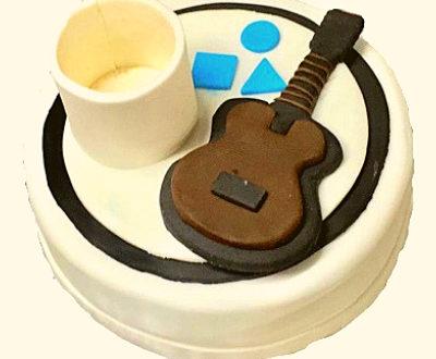 Mug & Guitar Shaped Cake