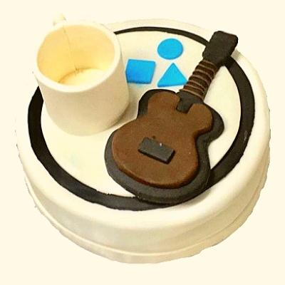 Mug & Guitar Shaped Cake in Pune Designs, Images, Price