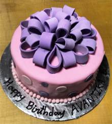 Pink & Purple Bows Cake in Pune Designs, Images, Price