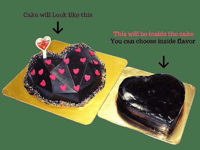 Heart / Diamond Pinata Cake in Pune Designs, Images, Price