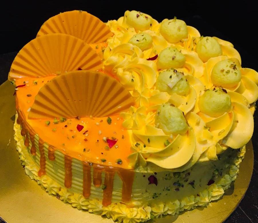 Mango Rasmalai Cake in Pune Designs, Images, Price