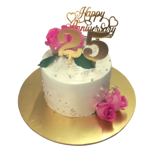 Anniversary Cake with Real Roses in Pune Designs, Images, Price