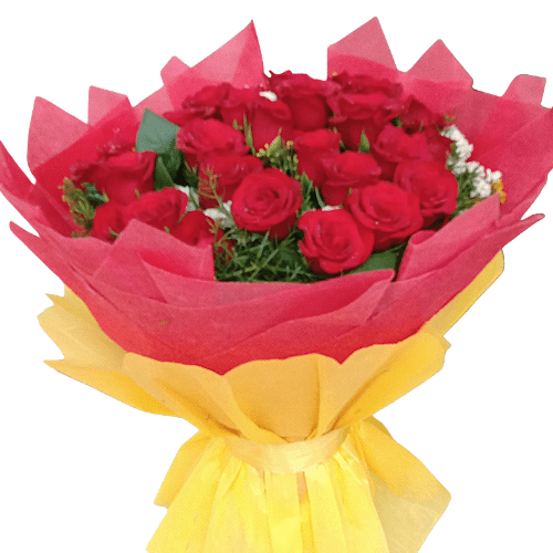 50 Rose Hand Bunch in Pune Designs, Images, Price