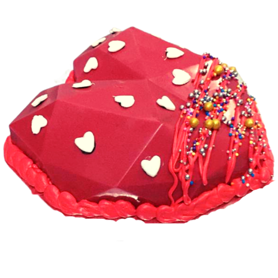 Red Heart Pinata Cake in Pune Designs, Images, Price