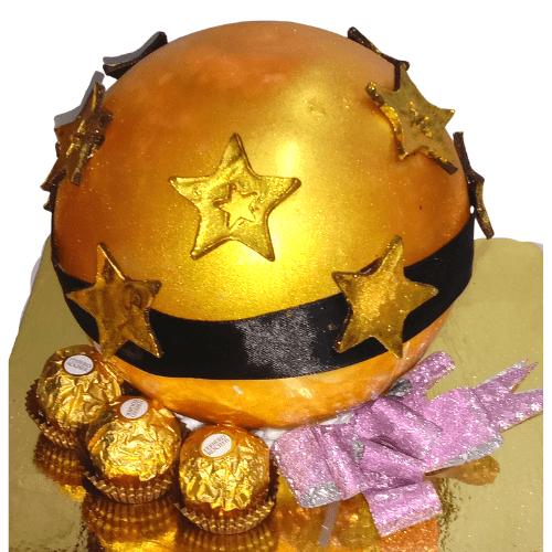 Ferrero Rocher Golden Pinata Cake in Pune Designs, Images, Price
