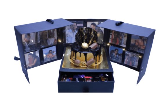 Surprise Box With Cake, Chocolates & LED Light in Pune Designs, Images, Price