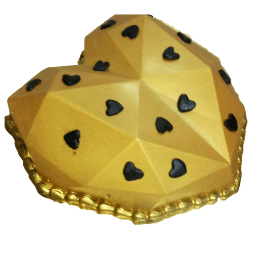 Golden Heart Pinata Cake in Pune Designs, Images, Price