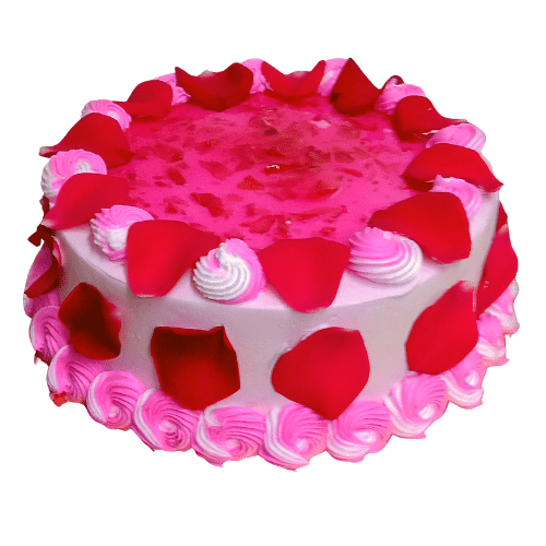 Rose Gulkand Cake in Pune Designs, Images, Price
